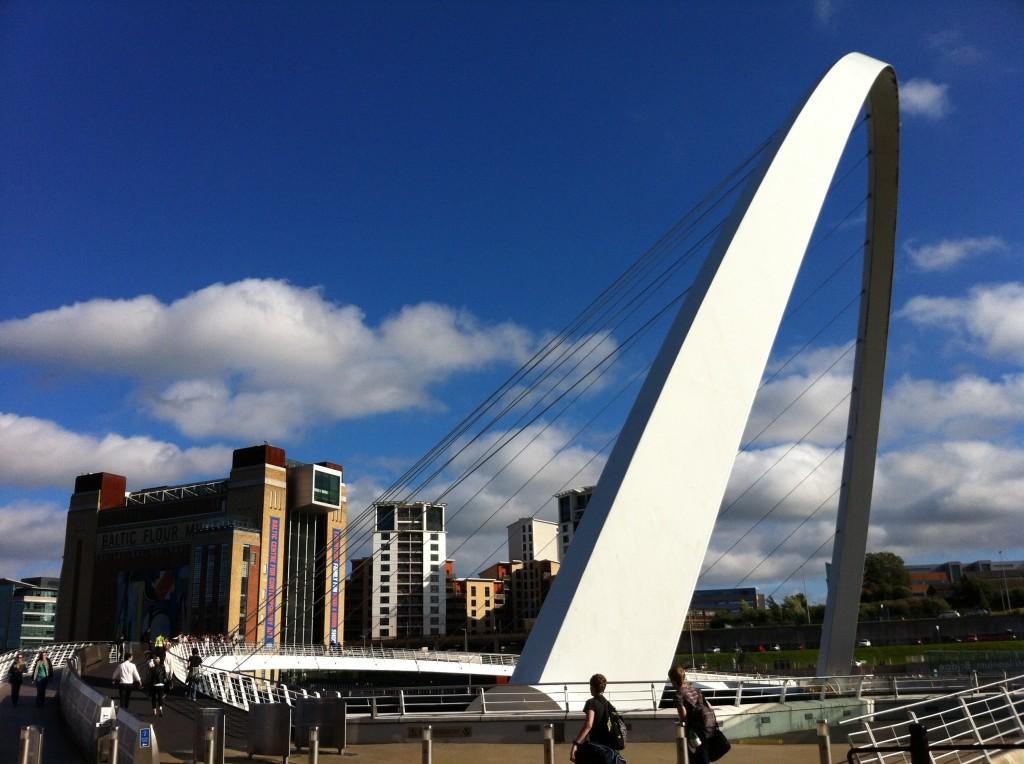 Millennium Bridge and the BALTIC.